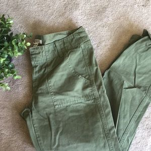 J. Crew Cargo Scout Fatigue Green Cropped Chino